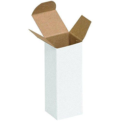 4 White Reverse Tuck Folding - Aviditi RTD1W Reverse Tuck Folding Cartons, 1 1/2
