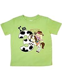 I'm Three-cowgirl riding horse birthday Toddler T-Shirt