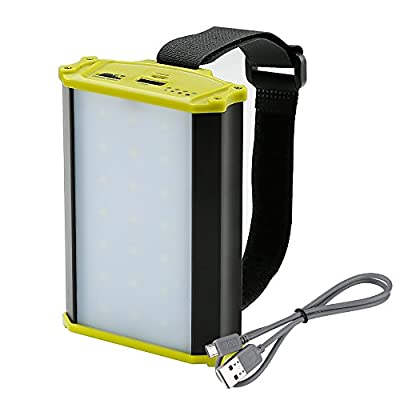 LE LED Camping Lantern, Rechargeable 330lm 4400mAh Power Bank, Dimmable Emergency Lantern, Work Light with Magnet, Portable Charger for Outdoor Activities, for Tents/Hiking/Camping/Hurricanes/Outages