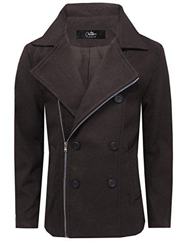 coat zipper brown 35 - 1
