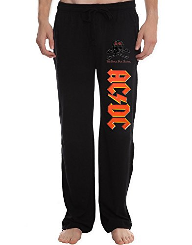 XJX Men's AC DC Logo Running Workout Sweatpants Pants L - Place Slc Fashion