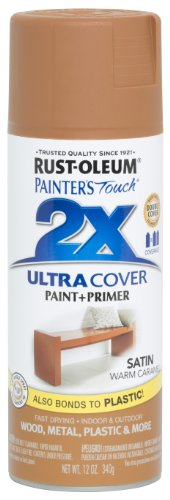 - Rust-Oleum Corporation 267118 Painter's Touch 2X Ultra Cover, 12 oz, Warm Caramel