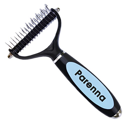 Dematting Tool for Dogs, Professional Dog Grooming Tool for Undercoat Removal and Shedding Reducing, Perfect for Medium and Long Hair Coat Dogs. B-yond Pro Dog Grooming Tool by Parenna by Parenna