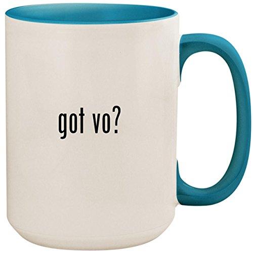 got vo? - 15oz Ceramic Colored Inside and Handle Coffee Mug Cup, Light Blue