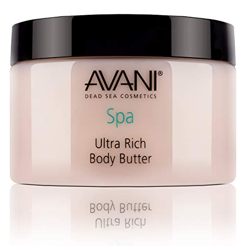 AVANI Classics Dead Sea Ultra Rich Body Butter | Includes Shea Butter, Aloe Vera, Essential Oils | Leaves Skin Soft & Silky Smooth | Milk and Honey - 9.35 oz.