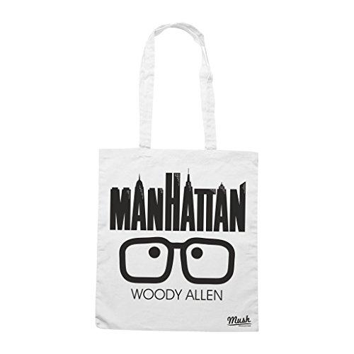 Borsa Manhattan Woody Allen - Bianca - Film by Mush Dress Your Style