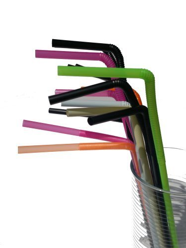 NRS Healthcare One Way Flextendable Drinking Straws - (Eligible for VAT relief in the UK) by NRS Healthcare