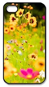 iphone 4 case brand new Vivid Flowers 2 PC Black for Apple iPhone 4/4S