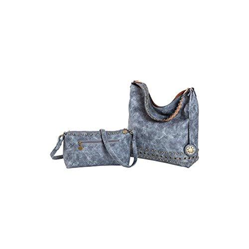 Sydney Love Grommet Reversible Hobo & Crossbody Bag Set, Terracotta/Denim