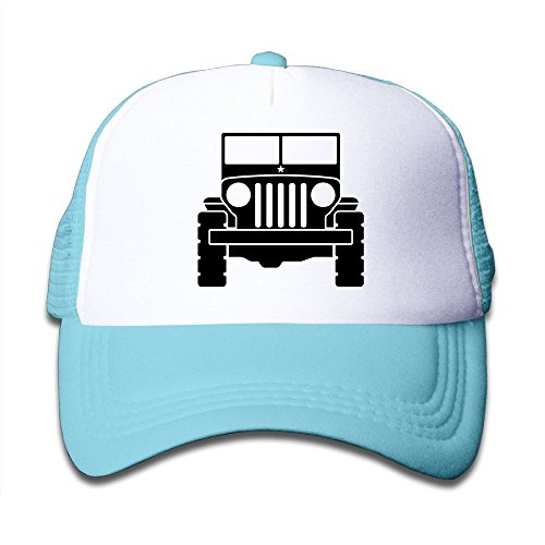 5900f608b34 Amazon.com  Mesh Baseball Cap Youth Trucker Hat Jeep 1 Unisex  Clothing