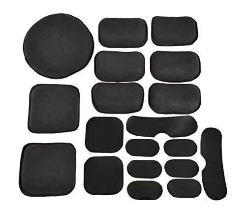 - JADEDRAGON Universal Tactical Airsoft Helmet Accessories Cs Helmet EVA Pads 19pcs Set for Fast/ACH/MICH/Motorcycle Helmet(Black)