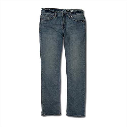 Volcom Jeans Rise Low - Volcom Men's Solver Denim Jean, Road Sky, 33X32