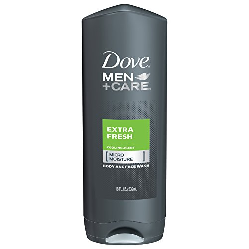 Dove Hydrating Body Wash - Dove Men+Care Body and Face Wash, Extra Fresh 18 oz