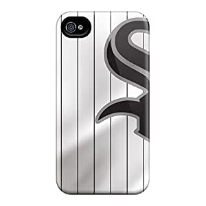 Iphone 4/4s SpJ8512AIxn Unique Design Realistic Chicago White Sox Image Shock-Absorbing Hard Cell-phone Case -InesWeldon