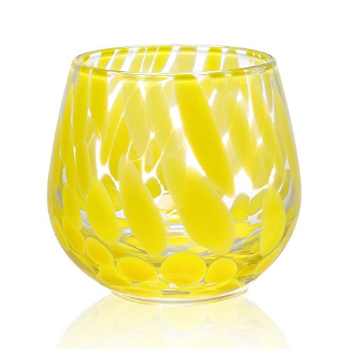 Viridian Bay Mimosa Stemless Wine Glass Set of 6