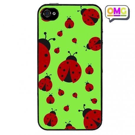 Cover Per Iphone 4 4s Coccinelle Sfondo Verde Acceso Portafortuna