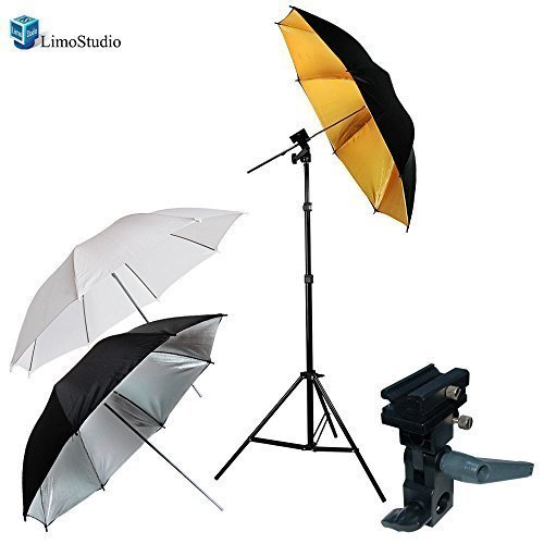 LimoStudio, AGG1297, Portable Hot Shoe Flash Umbrella Stand Kit for Canon Cameras by LimoStudio