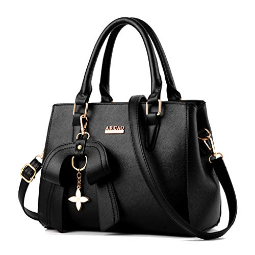 Nero Leather Crossbody handle Handbag Messenger Purse Satchel Landum Tote Women Pendant Bag Ladies Bags Bow Shoulder With Top 7nnEgTRwq