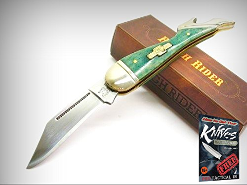 ROUGH RIDER Turquoise Bone Small LADY LEG Straight Folding Pocket Knife! 0011269 + free eBook by ProTactical'US