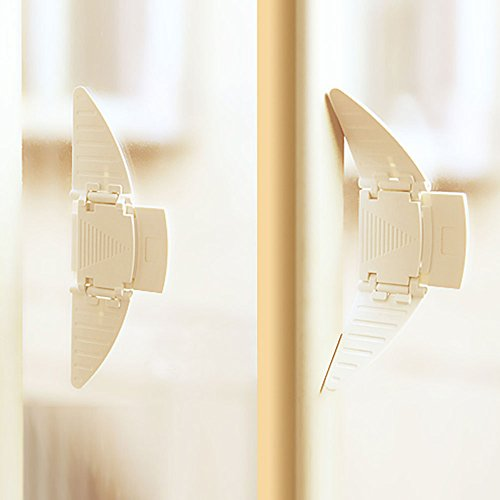 Sliding Closet Door Lock Sliding Window Stopper Wedge Locks Security for Baby - Usa Location Glasses
