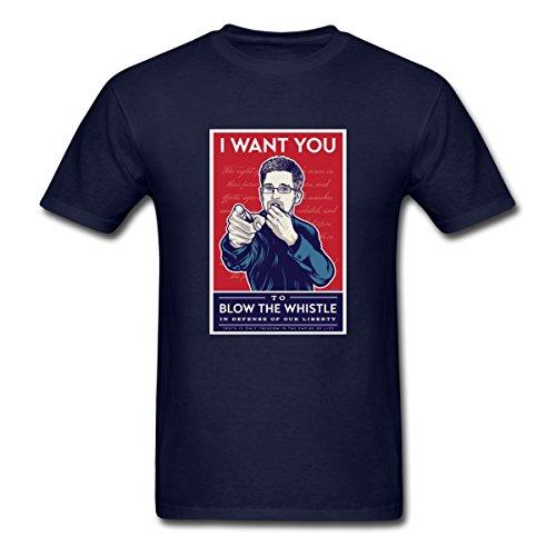 Spreadshirt WikiLeaks Snowden Whistleblower Men's T-Shirt, L, Navy