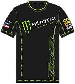 Monster Tech3 18T3M ACT2 S, T Shirt Uomo, NeroVerde, FR : S