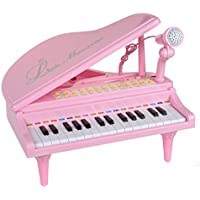Mallya Piano Keyboard Toy 31 Keys Pink Electronic Musical...