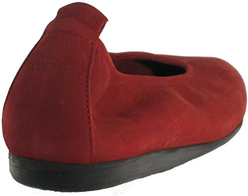 Red 'Laius' Nubuck Deep Arche Opera in Women's W58xnI