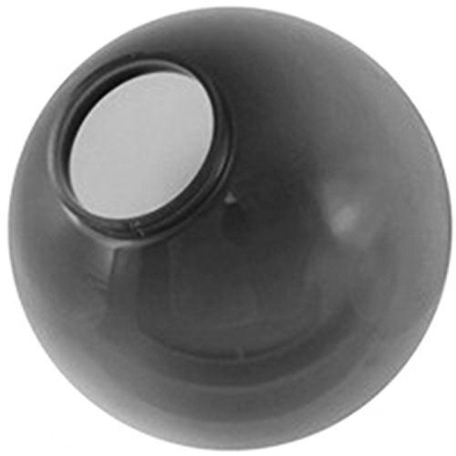 8 Inch Smoke Acrylic Lamp Post Globe with 3.24 Inch Threaded Neck by Lamp Post Globes etc.