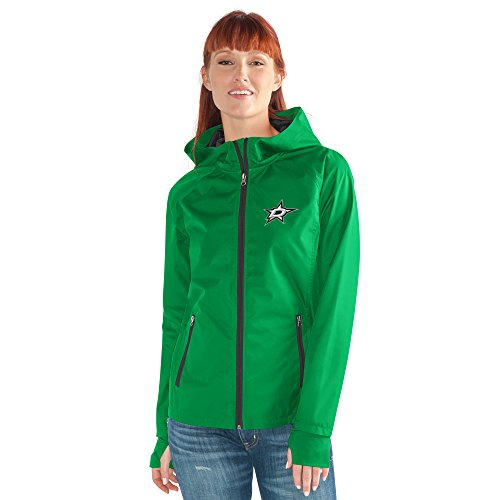 GIII For Her NHL Dallas Stars Women's Onside Kick Light Weight Full Zip Jacket, Small, Green