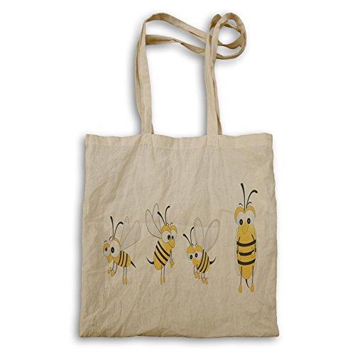 Niedliche Bienen-neue lustige Smiley-Kunst Tragetasche e202r