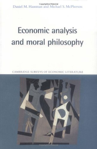 Economic Analysis and Moral Philosophy (Cambridge Surveys of Economic Literature)