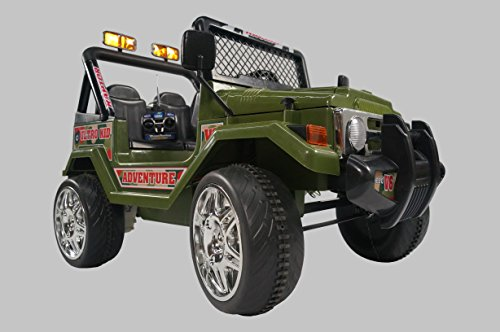 ride on car jeep wrangler green electric vehicle battery operated ride on car toy with remote control