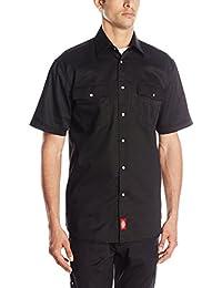 Dickies Men's Short Sleeve Snap Work Shirt