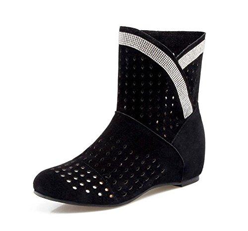 Nueva Bare Black Respiratorias Botas Mujer 2017 Casual Suede Hollow Moda Botas Boots Botas SxpfqO