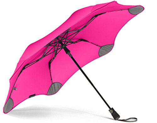 "BLUNT Metro Travel Umbrella with 37"" Canopy and Wind Resistant Radial Tensioning System - Pink by Blunt"