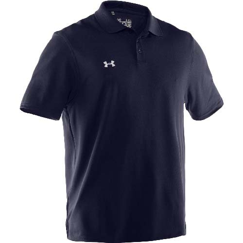 Under Armour Team Performance Polo Midnight Navy/White Large by Under Armour