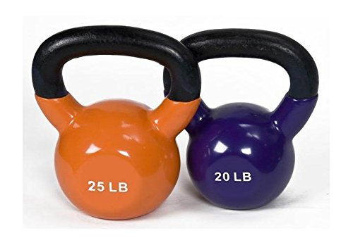 j/fit 20-25lb Vinyl Kettlebell Set by JFIT