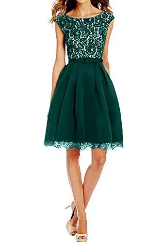 Toscana novia dulce un-hombro de la gasa vestido de noche largo hasta la rodilla de la dama de honor vestidos de fiesta corto Jaegergruen