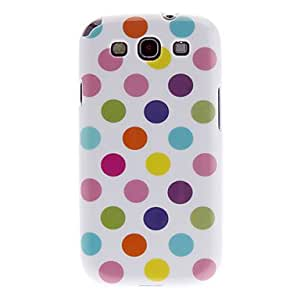 Polka Dots TPU Case for Samsung Galaxy SIII i9300 White Colorful Dot