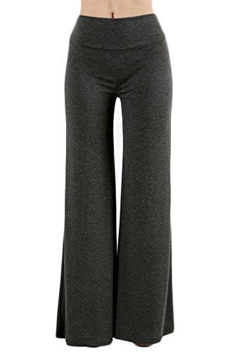 TL Women's Versatile Comfy Wide Leg Long Maternity Palazzo Gaucho Lounge Pants 79P_CHARCOAL M