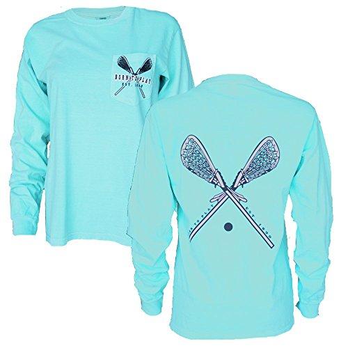 JANT girl Lacrosse Long Sleeve Pocket T-Shirt (Chalky Mint, S)