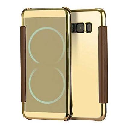 6288b651d08 Amazon.com: FidgetGear Estuche Funda Espejo con Tapa para Samsung S6 ...