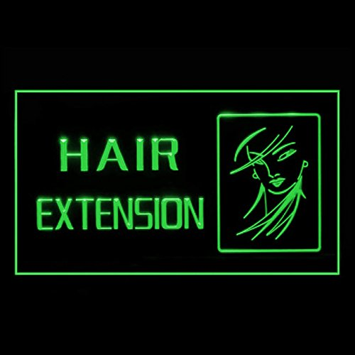 [Hair Extension Styles Clip Wigs Natural Wig Trend Stylist LED Light Sign 160063 Color Green] (Wigs Au)