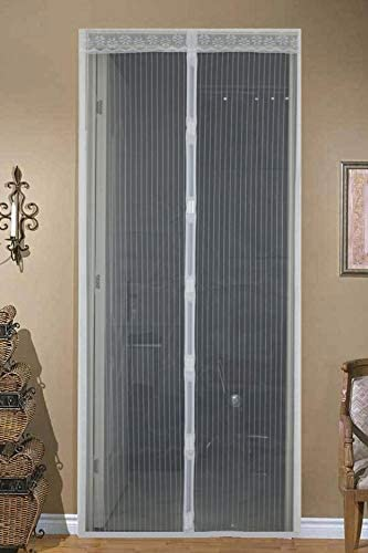 Cifrado de verano de malla de malla anti-mosquitos y cortinas de moscas cierran automáticamente la cortina de la puerta de la pantalla de la cocina A5 W90xH210