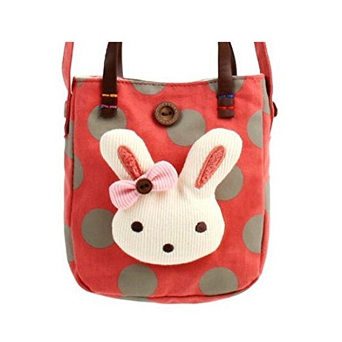 Top Shop Girls Cartoon Totes Messenger Shoulder Bags Handbags Hobos Red Clutches (Red Valentino Lily)