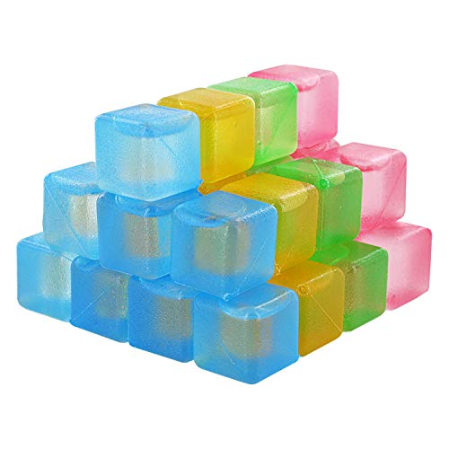 Thorntons Reusable Plastic Ice Cubes, Assorted Colors (32 Cubes)
