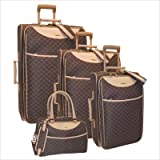 Pierre Cardin 19004RX-5 Signature Series 4-Piece Expandable Luggage Set in Brown