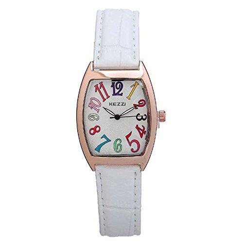 Relojes digitales Mujer tendencia de la moda del color de la correa metro cuadrado reloj ocasional