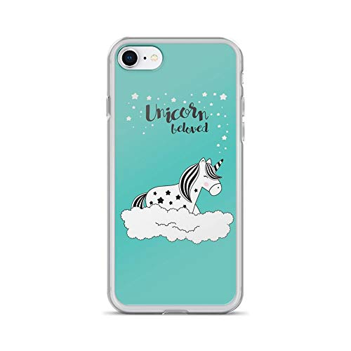 iPhone 7/8 Pure Clear Case Cases Cover Unicorn Beloved Cute Doodle Pony
